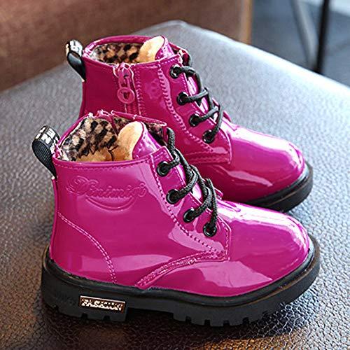 Niñas Gruesa Casuales Zapatillas Impermeables Moda Pequeñas Nieve Zapatos Yanhoo Invierno Niños Deporte Para Rojo Bebé De Botines Botas 6PEFFqa