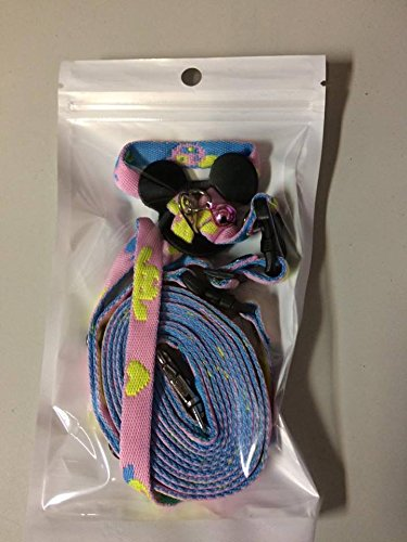 [Adjustable Harness Leash Hamster Rat Mouse Squirrel Sugar Glider Small Animal(Blue,Pink)] (Korean Culture Costume)
