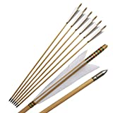 Wooden Arrows Japan Hunting Turkeys Feather Color White Pack of 6