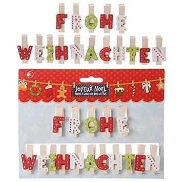 Weihnachten Buchstaben Dekoklammer - FROHE WEIHNACHTEN: Amazon.de ...