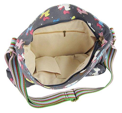 Handbag Pineapple Umbrella Unicorn Kukubird Shoulder Bag Various Handle Top Anchor Grey Animal And Design Crossbody Tote ttBqwO