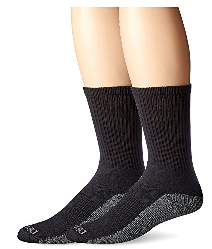 Dickies Men's Petite Dri-Tech Comfort Crew Socks Smaller Size, Black, 12 - Petite Men