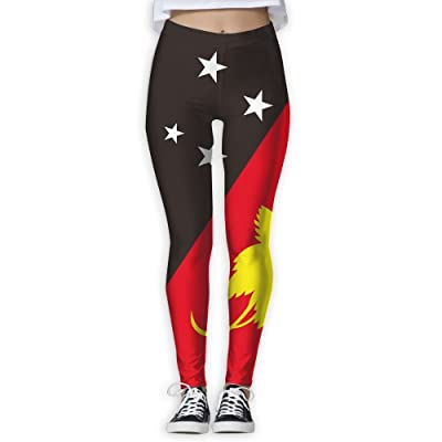 MOCSTONE Papua New Guinea Flag Workout Yoga Pants Stretchy Leggings For Women