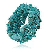 Bling Jewelry Reconstituted Turquoise Gemstone Chips Chunky Stretch Bracelet