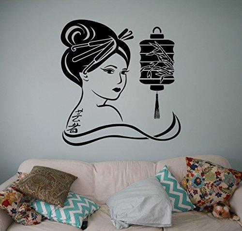 Japanese Geisha Wall Vinyl Decal Asian Culture Wall Sticker Home Wall Art Decor Ideas Room Wall Interior Removable Design 2(gsa)
