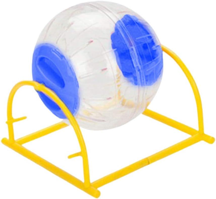 Balacoo Bola de Ejercicio de hámster con Soporte Bola de Correr para Hamster Erizo Rata Ardilla Conejillo de Indias Suministros para Mascotas 12 cm (Color Aleatorio)