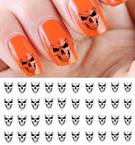 Evil Skulls Water Slide Nail Art Decals - Great for Halloween! -