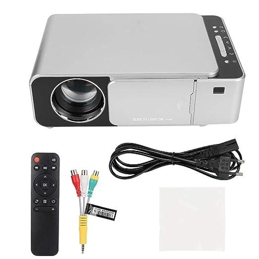 Proyector HDMI USB, T6 LED Proyector HDMI USB para el hogar 720P ...
