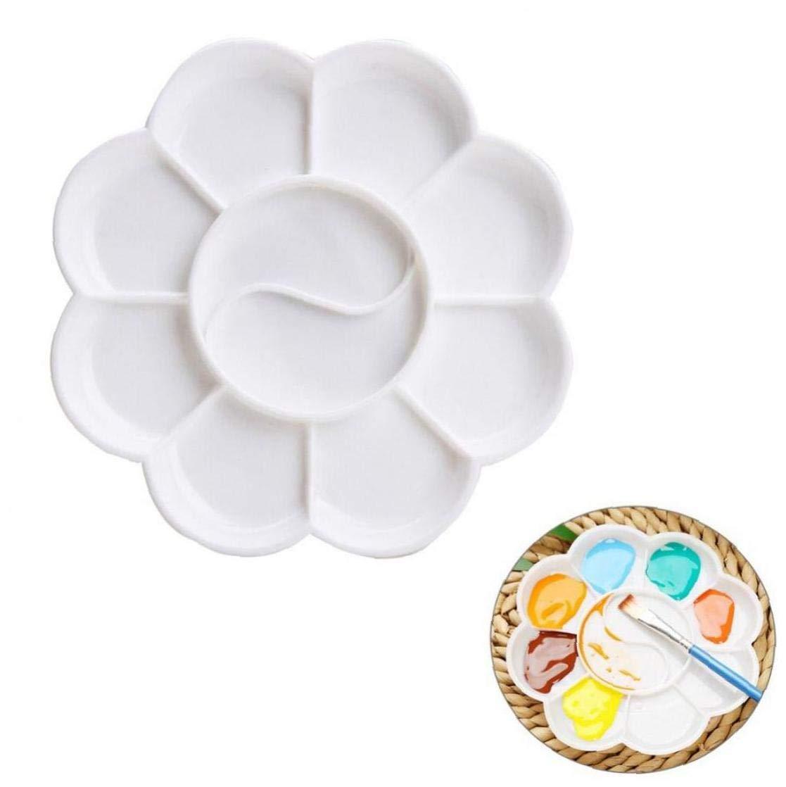 Bontand Vaschetta per Pittura Tavolozze di Plastica Dipinto Ad Acquerelli Mixing Palette per Il Mestiere di DIY Professionale Arte Pittura