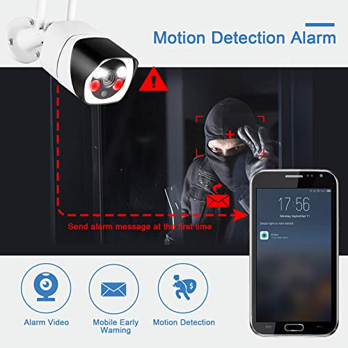 Outdoor Security Camera with Full Color Night Vision, TOWODE Waterproof Home 2.4G WiFi IP IR-Lens Wireless Security Camera Motion Detection 1080P CCTV Surveillance Cameras JPEG Snapshot Function