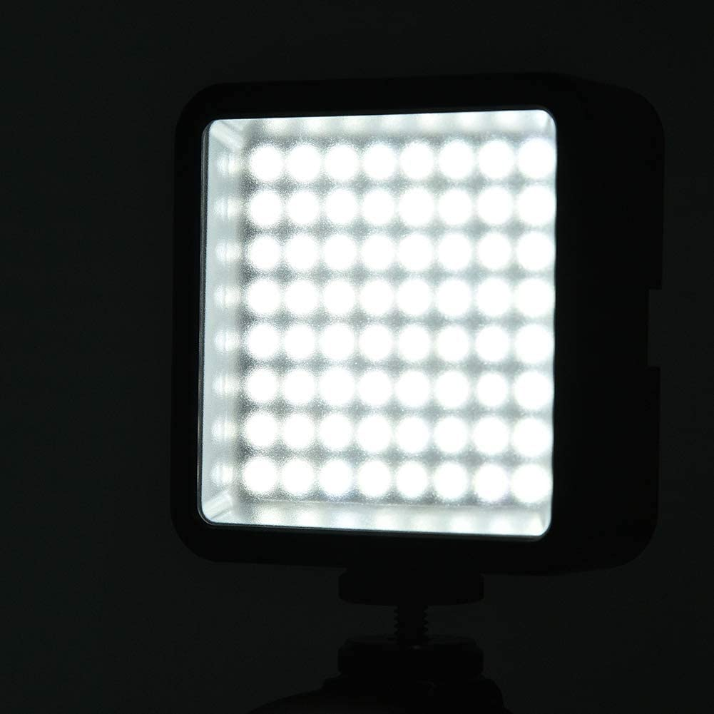 Mugast W64 LED Video Light 6000K Mini Photography Video Fill Lamp of 60/° Light Angle with Standard DC Port for Photography