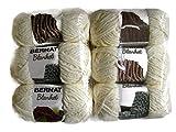 Bernat Blanket Yarn, 5.3oz, 6-Pack (Vintage White)