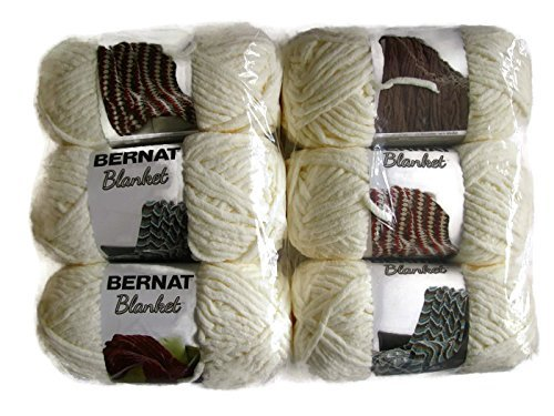 Bernat Blanket Yarn, 5.3oz, 6-Pack (Vintage White)