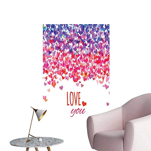 Vinyl Artwork He Love You sage Valentin Day Springtime Cheerful Bed Easy to Peel Easy to Stick,12