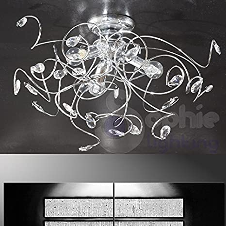 Lámpara de techo lámpara techo diseño moderno elegante 3 luces ...