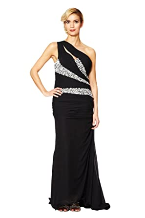 Womens Long Evening Dress With Chapel Train One Shoulder Ball Gowns