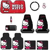New 10PC Hello Kitty Core Auto Car Truck SUV Accessories Interior Combo Kit Bundle Gift Set
