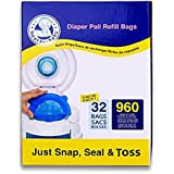Neatforbaby Diaper Pail Refill Bags (960 Counts) Fully Compatible with Many Disposal Diaper Pail