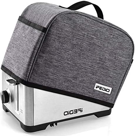 2 Slice Toaster Appliance Cover with Pockets, Can Hold Jam Spreader Knife & Toaster Tongs, Dust and Fingerprint Protection, Machine Washable