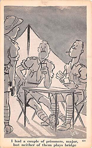 Military Comic Postcard, Old Vintage Antique Post Card Jeff Unused