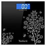 400lb / 180kg Digital Body Weight Bathroom Scale with Step-On Technology and Tempered Right Angle Glass Balance Platform … (Black)