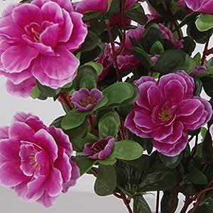B Blesiya 4pcs Artificial Silk Fake Flowers Leaf Azalea Flowers Wedding Floral Decor Bouquet 118