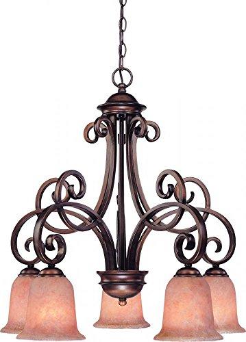 Dolan Designs 2099-133 Medici 5 Light Chandelier, English Bronze (Medici 5 Light Chandelier)