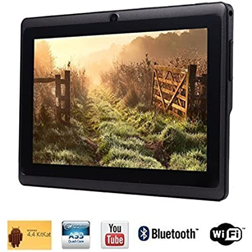 Tagital 7 Quad Core Android 4.4 KitKat Tablet PC, HD Screen 1024x600, 8GB, Dual Camera, Netflix, Skype, 3D Game Supported (Black) Coupons