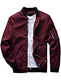 82495c0d9d Men s Slim Fit Lightweight Softshell Flight Bomber Jacket Coat