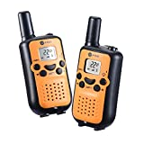 Walkie talkies for kids J-TOO Easy to use 22 Channel FRS/GMRS Two Way Radio 5 Mile Rang 2 Pack (Orange)
