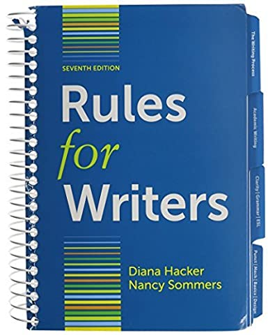 By Diana Hacker Rules for Writers with Writing about Literature (Tabbed Version) 7e & LearningCurve for Rules for Wr (Seventh Edition) (Rules For Writers 7th)