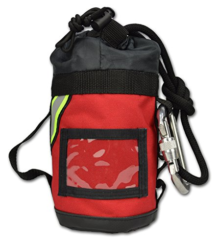 Lightning X Fire Rescue Personal Escape Rope Bag Bail Out Kit w/ 40' x 8mm Rope & Carabiner NFPA - Red