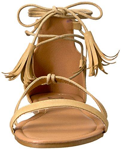 Brinley Co Womens Aviss Flat Sandal Nude