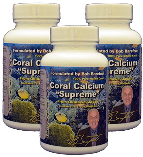 Bob Barefoot'S Coral Calcium Supreme, 3 Count Barefoot Coral Calcium