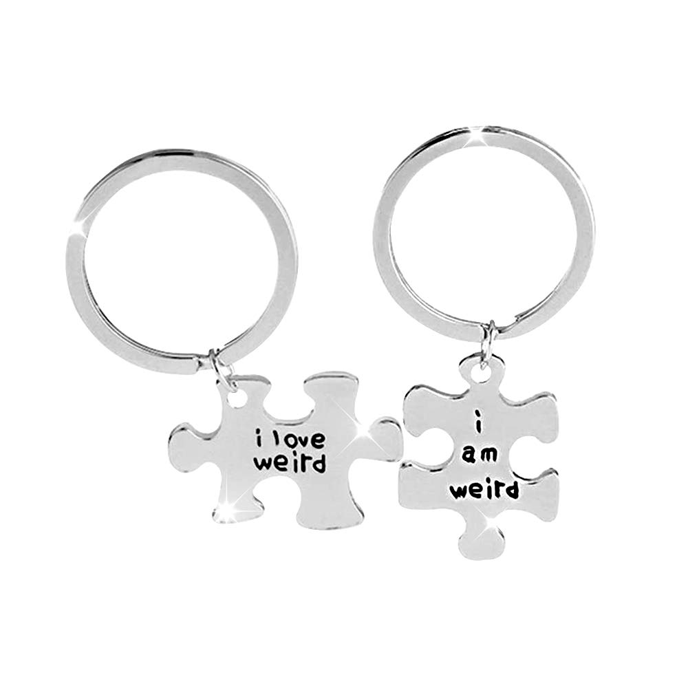 Bijours Jigsaw Keychain His Crazy | Keychain Made of Stainless | Steel Suitable for Couple Boyfriend Girlfriend