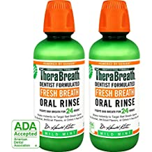 TheraBreath – Fresh Breath Oral Rinse – Dentist Formulated – Stops Bad Breath – No Artificial Flavors – Gluten Free – Certified Kosher – Mild Mint Flavor – 16 Ounces – Two-Pack