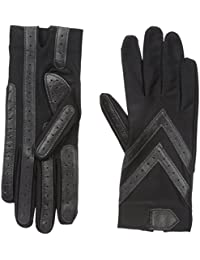 Women's Spandex Shortie Gloves with Leather Palm Strips