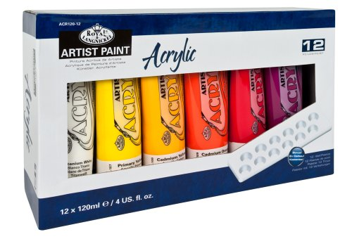 -[ Royal & Langnickel 120ml Acrylic Painting Colour (Pack of 12)  ]-
