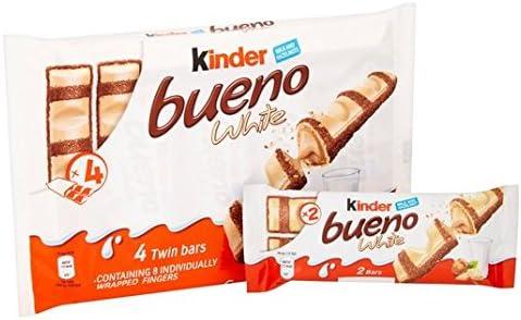 Kinder Bueno 4 Blanco Paquete De 4 X 39g: Amazon.es: Hogar