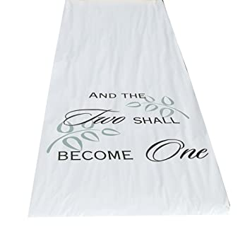 Hortense B Hewitt Wedding Accessories Fabric Aisle Runner Two Shall Become One 100