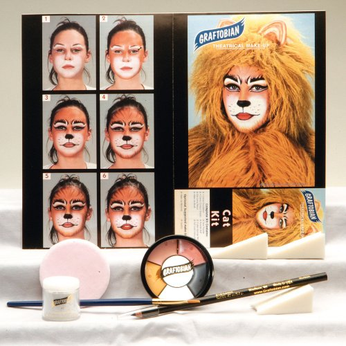 [Graftobian 181571 Cat Kit - Multicoloured] (Halloween Cat Costume Face Makeup)