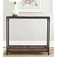 Safavieh American Homes Collection Dinesh Black and Dark Walnut Console Table
