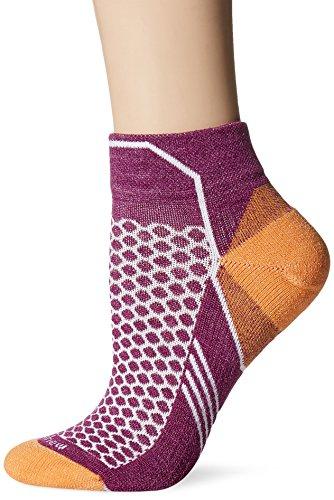 Sockwell Womens Incline Inspire Athletic Lo Quarter Socks  Violet  Small Medium