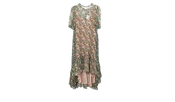 Zara 4786/244 - Vestido con Estampado de Flores Verde S ...
