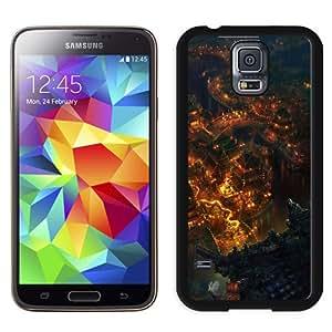 New Custom Designed Cover Case For Samsung Galaxy S5 I9600 G900a G900v G900p G900t G900w With Asian Riverside Town Fantasy Mobile Wallpaper Phone Case