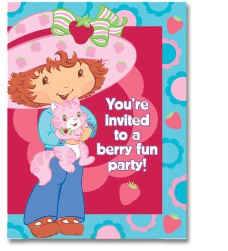 Strawberry Shortcake 'Berry Princess' Invitations and Thank You Notes w/ Envelopes (8ct ea.) -
