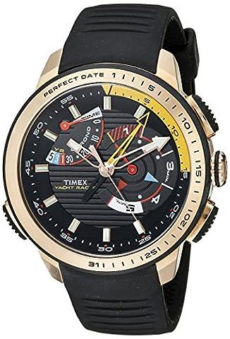 Timex Men's TW2P44400DH Intelligent Quartz Yacht Racer Analog Display Analog Quartz Black Watch