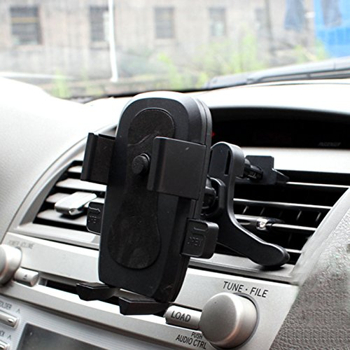 Car Mount,iBarbe Univeral Cell Phone Car Mount Holder for iPhone X 8/8plus 7/6S/6/5S/7 Plus, Samsung Galaxy S8 S7 Edge S6 S5 Note 5/4,Nexus,HTC,LG,Sony More Smartphone&GPS-Black