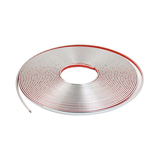 uxcell 8mm Width Silver Tone Soft Rubber Adhesive Car Door Edge Guard Protective Strip