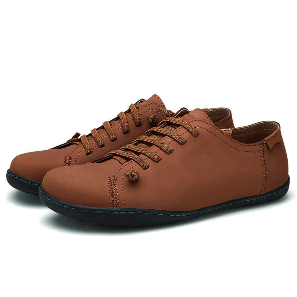 Zapatos De Hombre Partido De Cuero Pisos Mocasines Artesanales De Moda Slip En Alpargatas: Amazon.es: Zapatos y complementos
